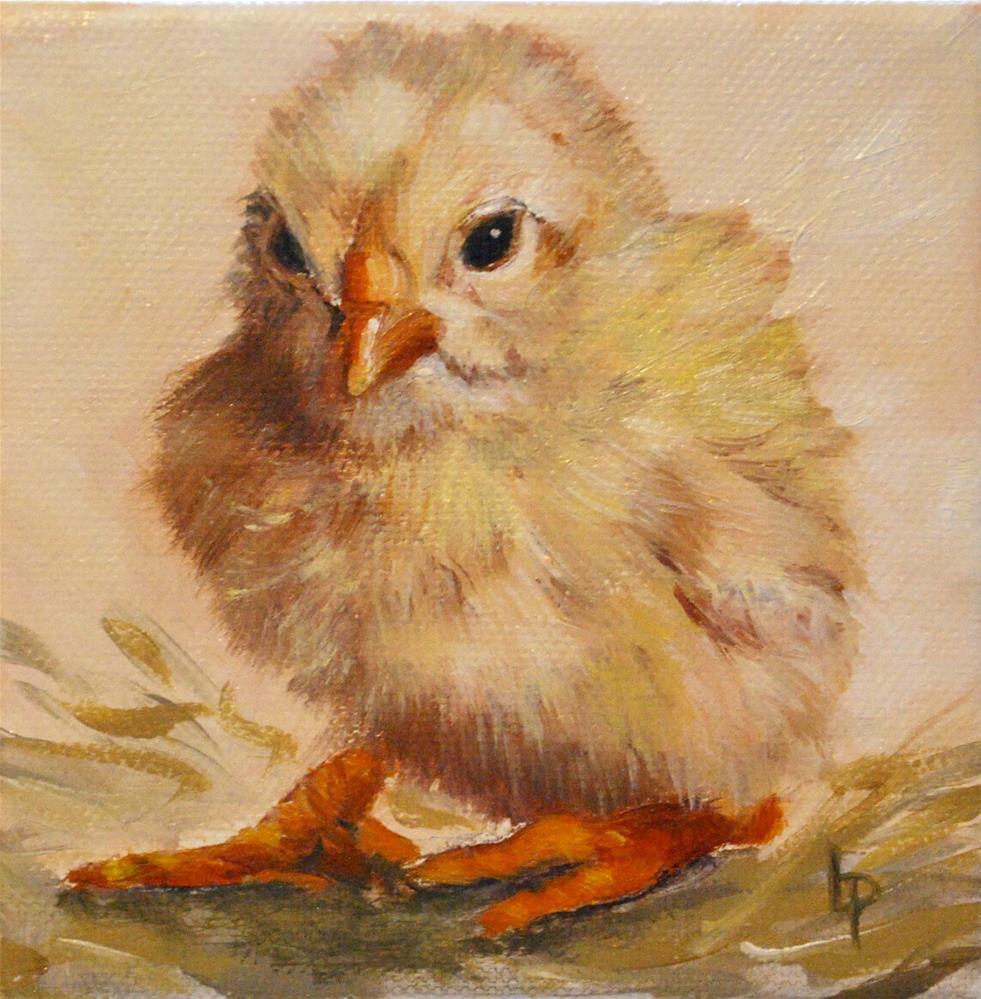 """Chick"" original fine art by Beverley Phillips"
