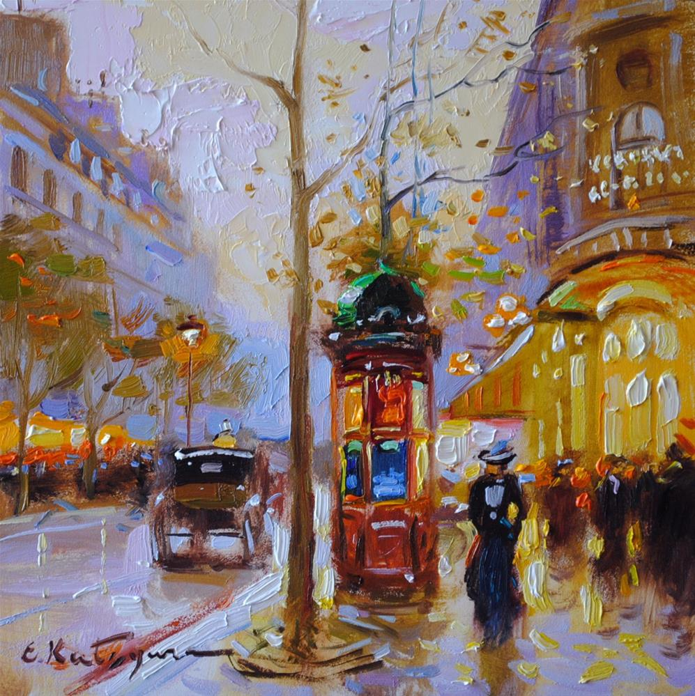 """Evening Boulevard"" original fine art by Elena Katsyura"