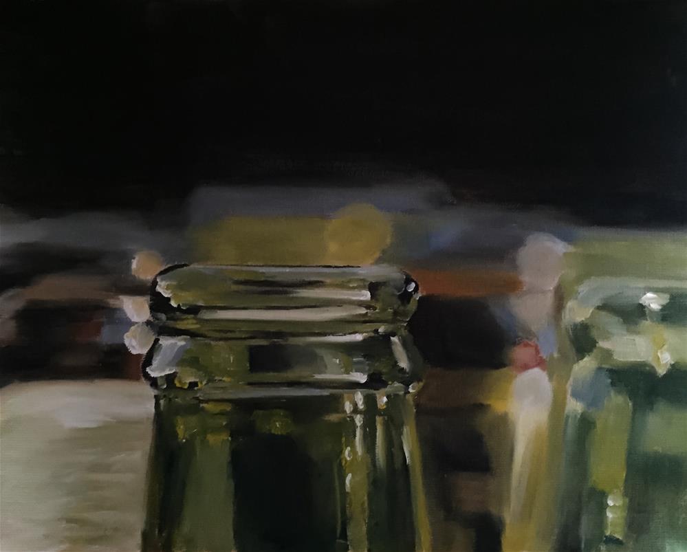 """""""Bottles"""" original fine art by James Coates"""