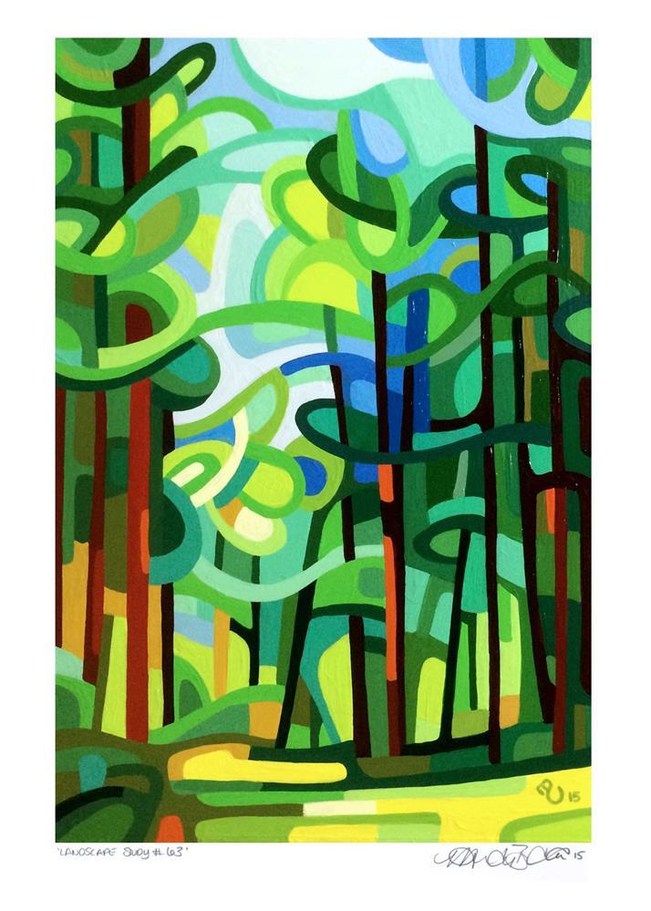 """Landscape Study #63"" original fine art by Mandy Budan"