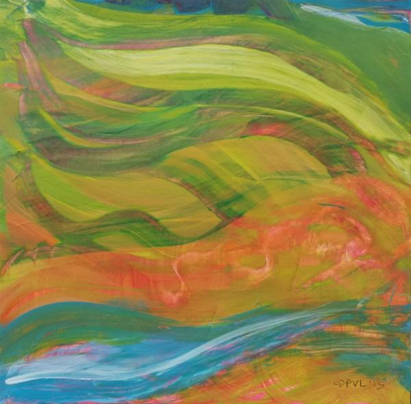 """Valley Morning 36"" original fine art by Pam Van Londen"