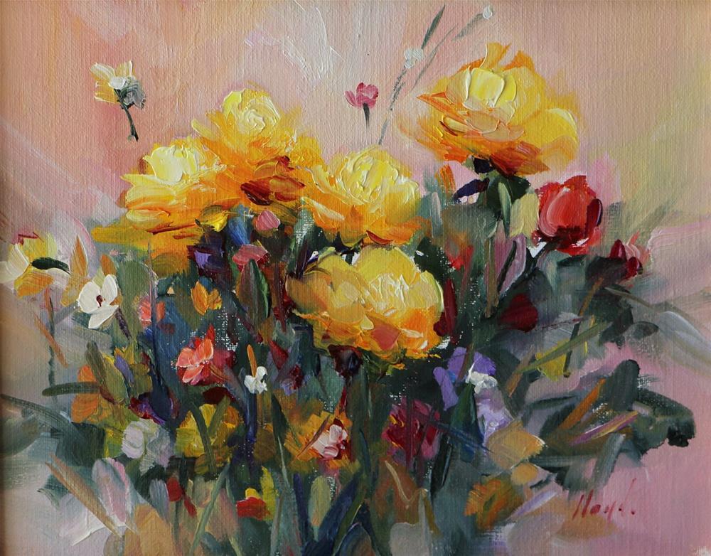 """Yellow Roses"" original fine art by Diane Lloyd"