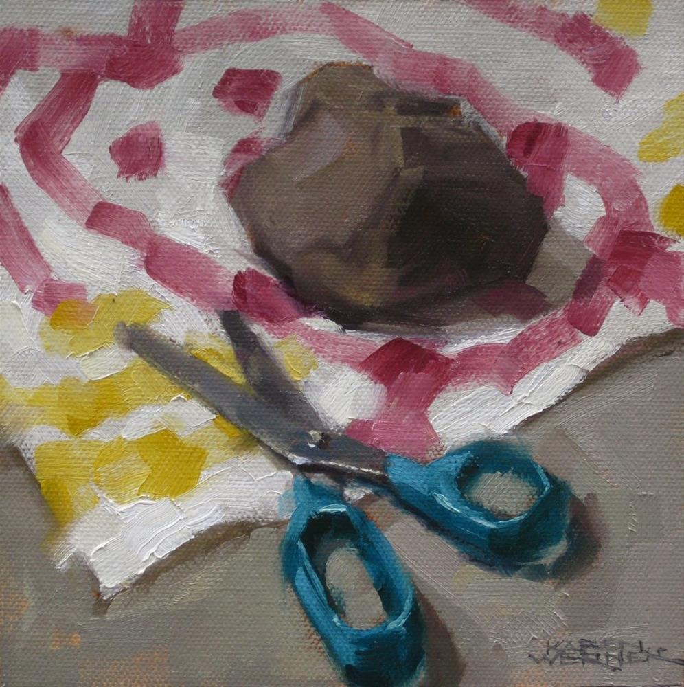 """Rock, Paper, Scissors 2"" original fine art by Karen Werner"