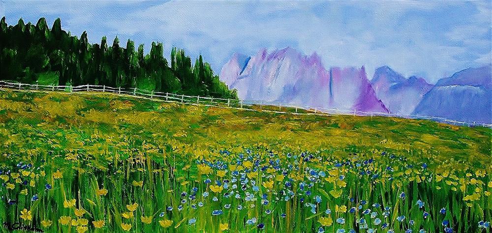"""Mountain Meadow Wildflowers"" original fine art by Mike Caitham"