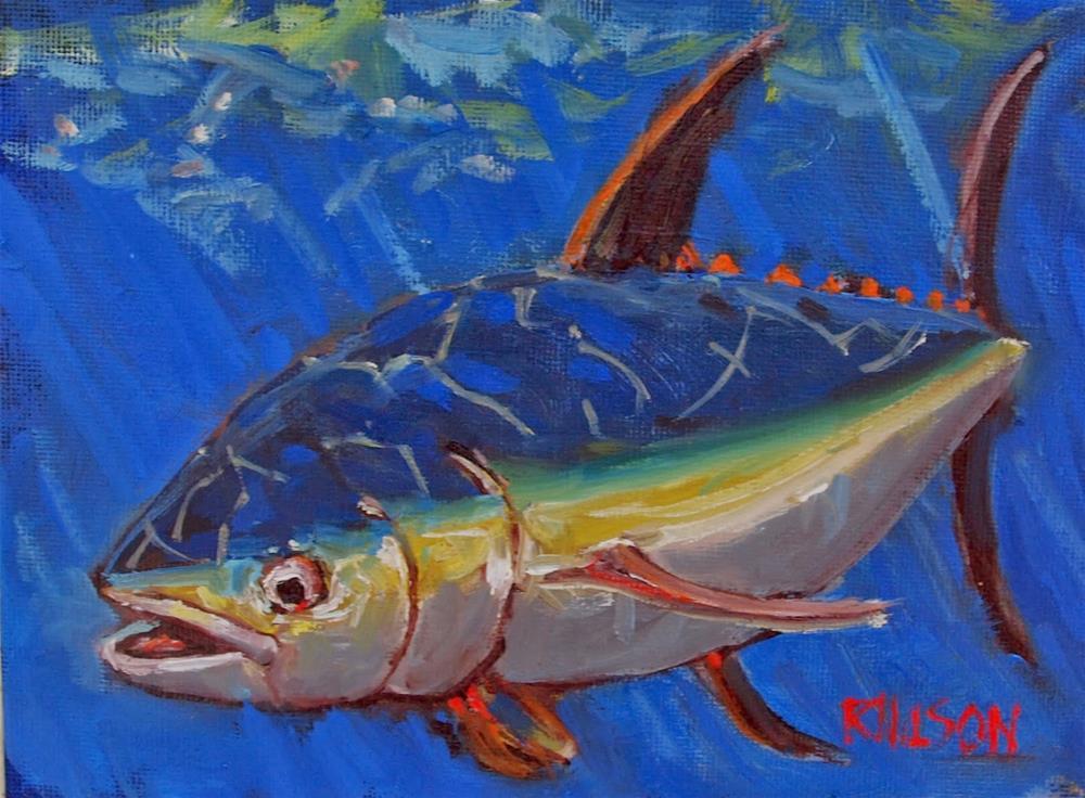 """Tuna in Water"" original fine art by Rick Nilson"