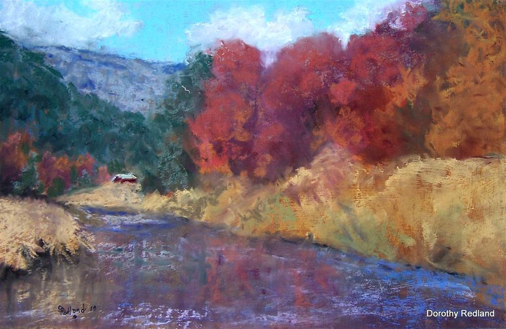 """FALL TREES ON THE FRIO"" original fine art by Dorothy Redland"