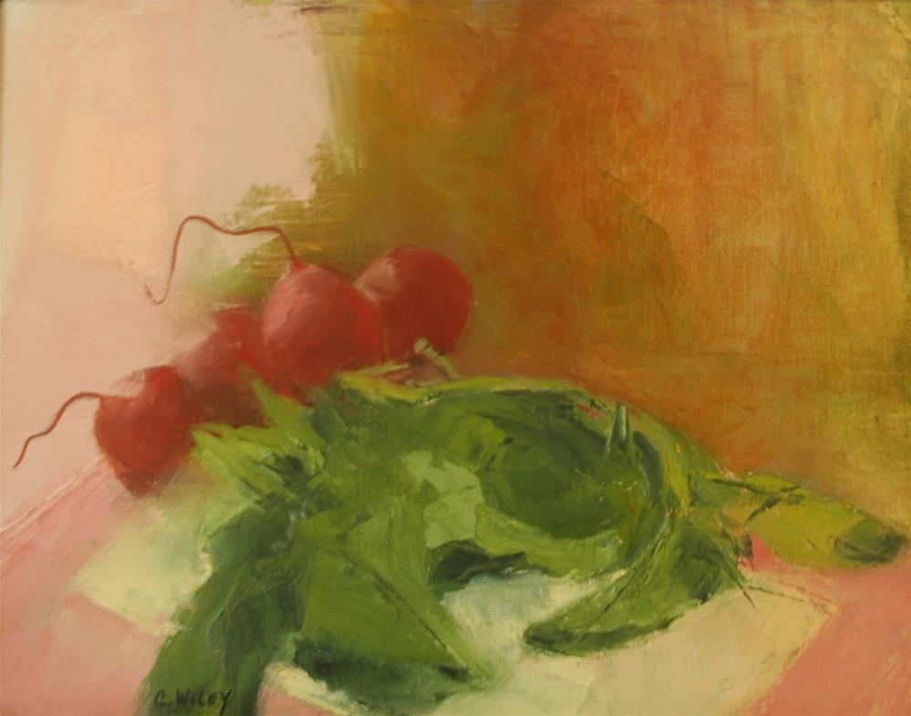 """""""Radishes"""" original fine art by Carol Wiley"""