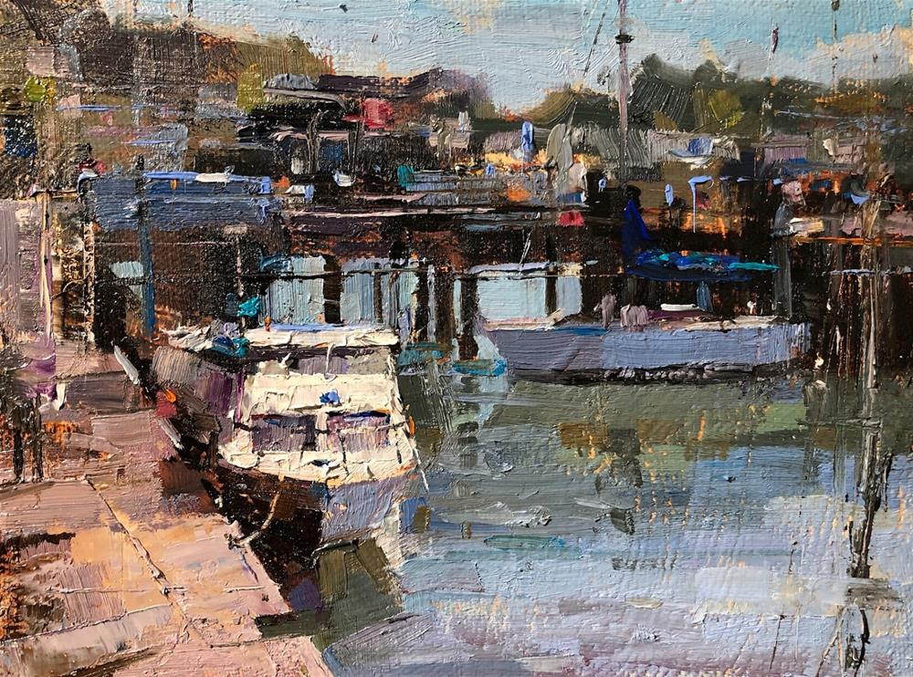 """Morro Bay"" original fine art by Qiang Huang"