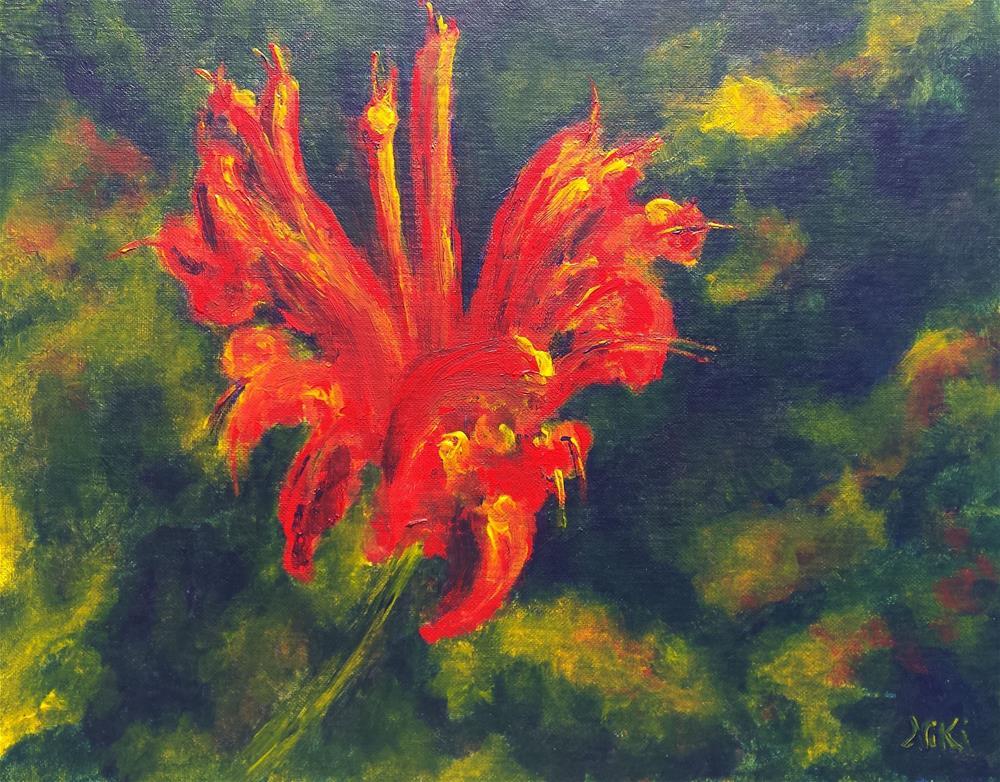 """""""Fire Flower"""" original fine art by Niki Hilsabeck"""