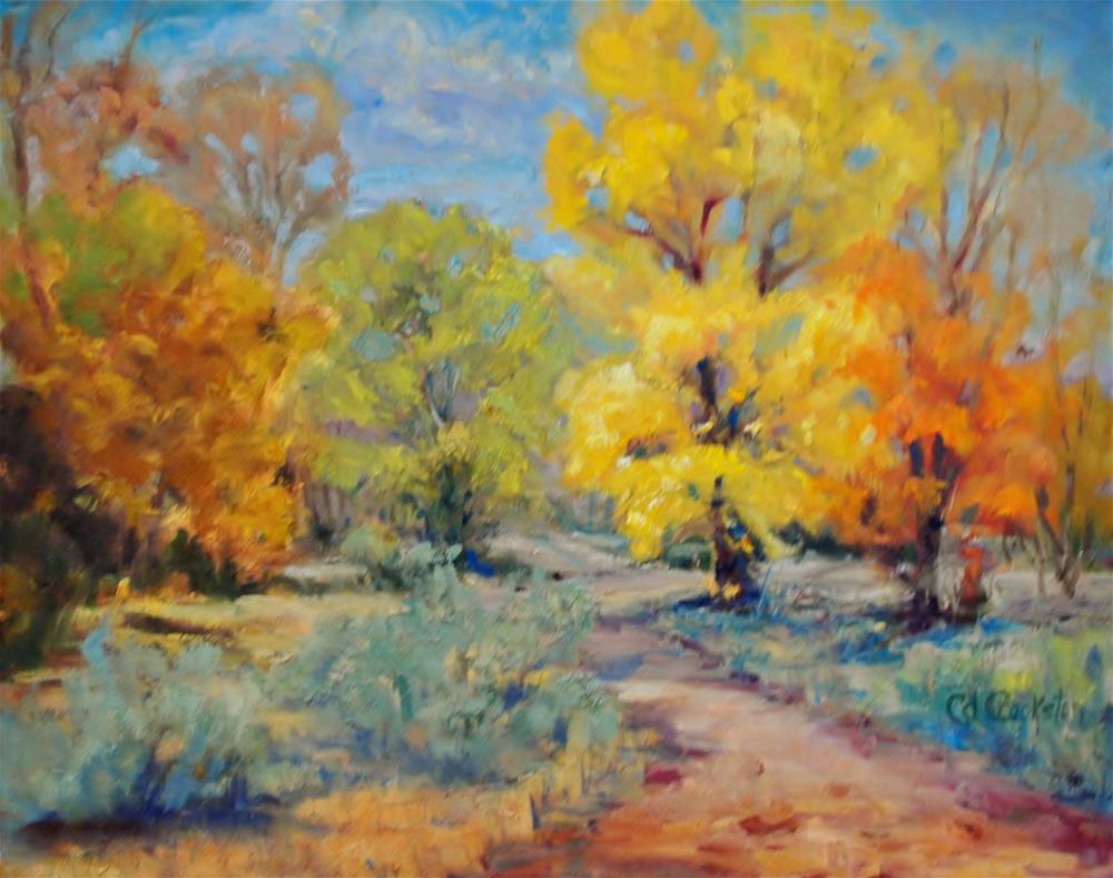 """Mountains Autumn"" original fine art by Catherine Crookston"