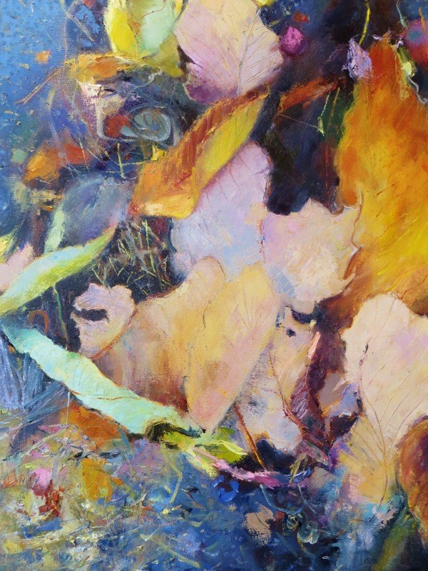 """October Road"" original fine art by Scarlet Owl Studio"