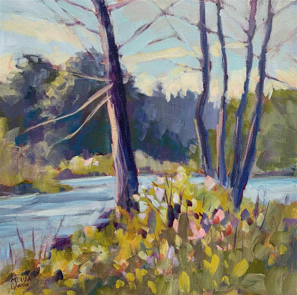 """Banks Along the Willemette"" original fine art by Melissa Gannon"