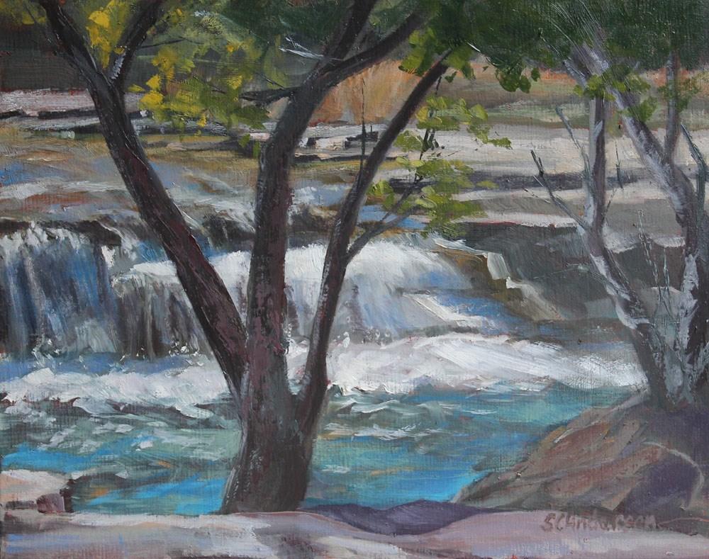 """Raging falls"" original fine art by Susan Andersen"