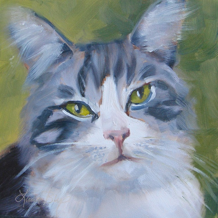 """Missy - 367"" original fine art by Laura  Buxo"
