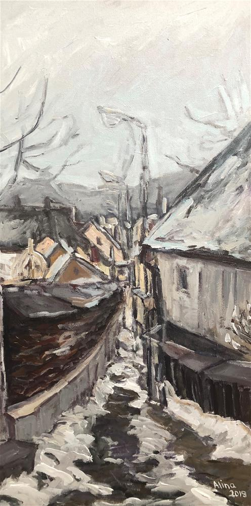 """Eastern European Village"" original fine art by Alina Vidulescu"