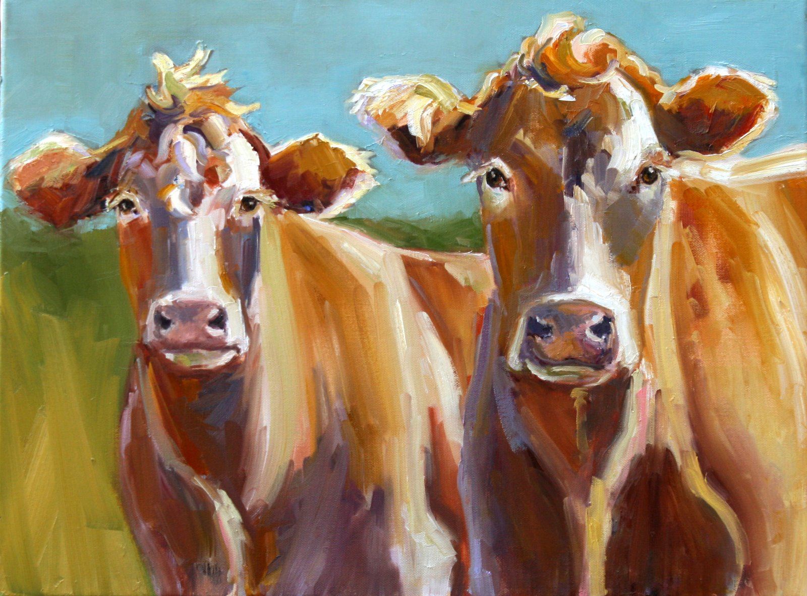 """moe and curly"" original fine art by Carol Carmichael"