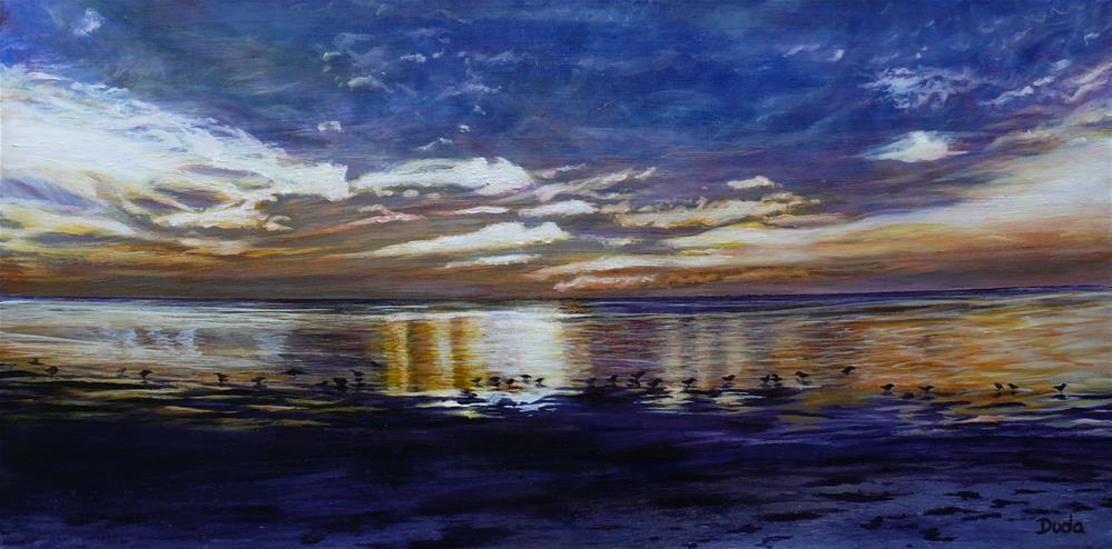 """""""Green Key Sunset"""" original fine art by Susan Duda"""