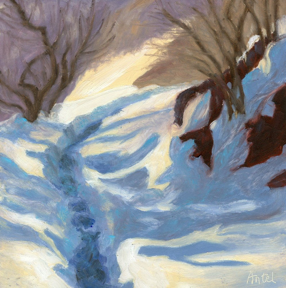 """Foot Trail"" original fine art by Rosemary Antel"