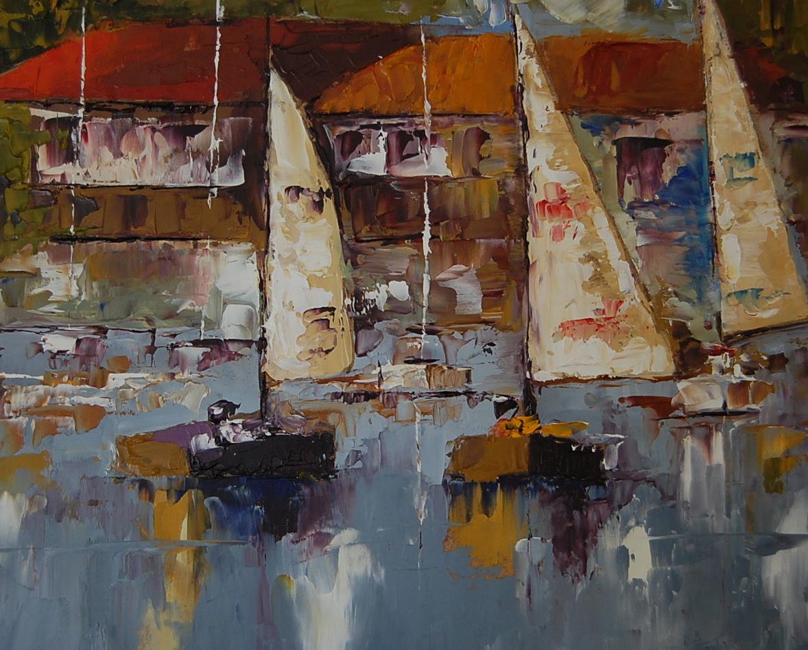 """Balboa Bay #2"" original fine art by Deborah Harold"