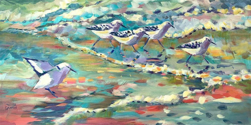 """""""Catching Up"""" original fine art by Melissa Gannon"""