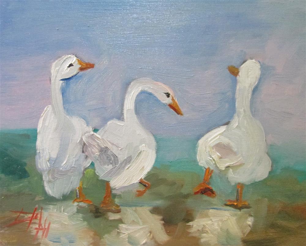 """Three Ducks"" original fine art by Delilah Smith"