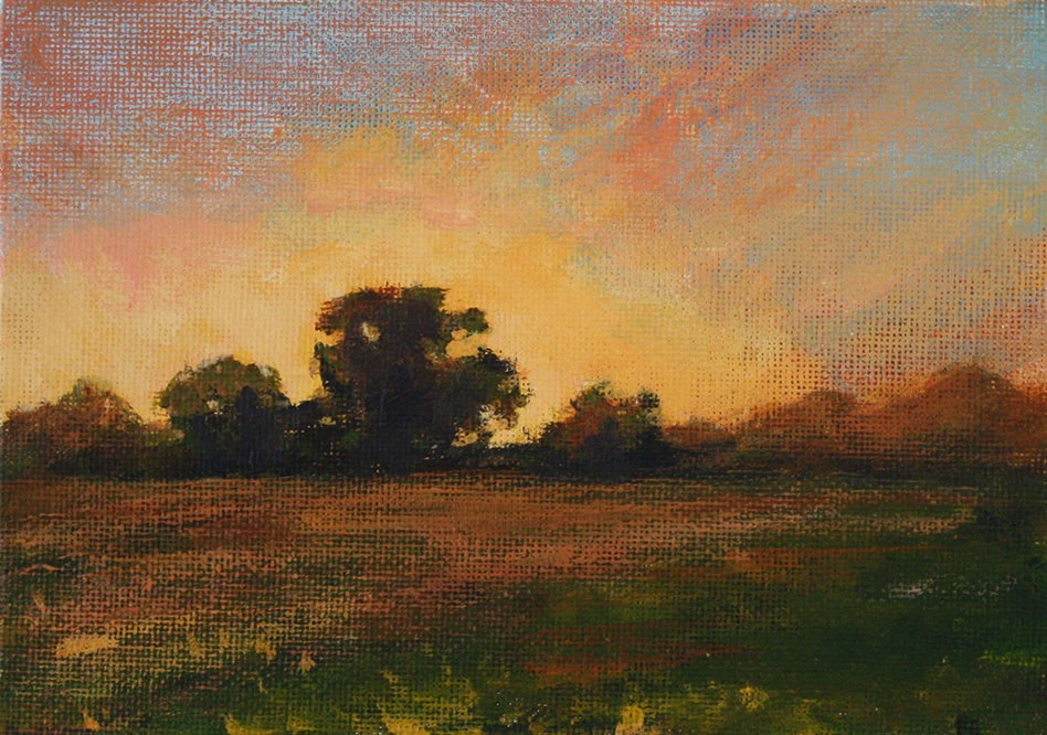 """Quiet Sunset"" original fine art by Shannon Bauer"
