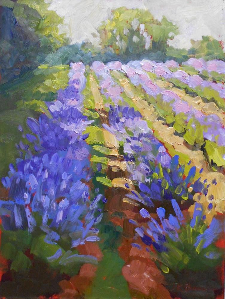 """Lavender Bloom"" original fine art by Jeanne Bruneau"