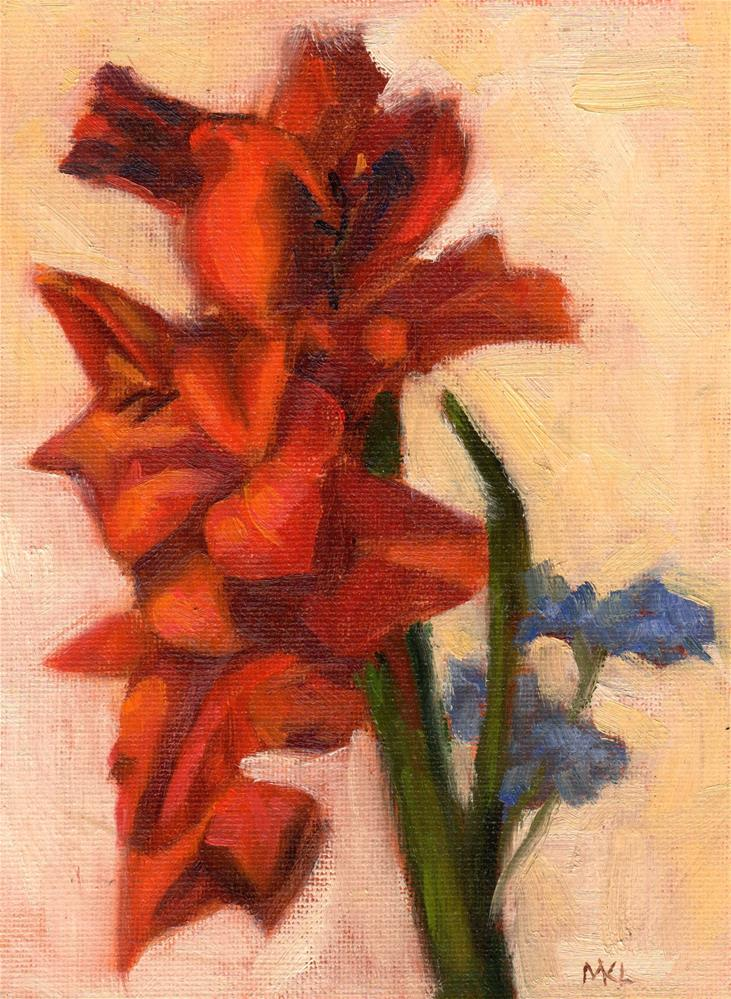 """Amaryllis"" original fine art by Marlene Lee"