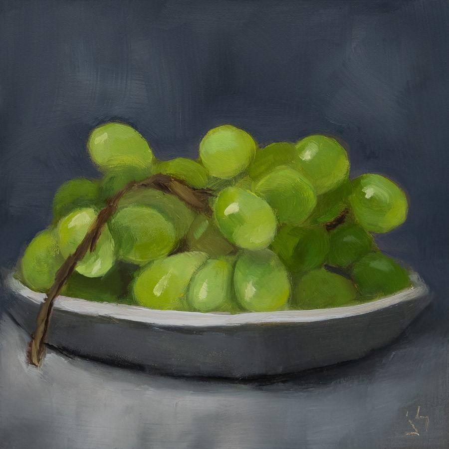 """Peel Me a Grape"" original fine art by Johnna Schelling"