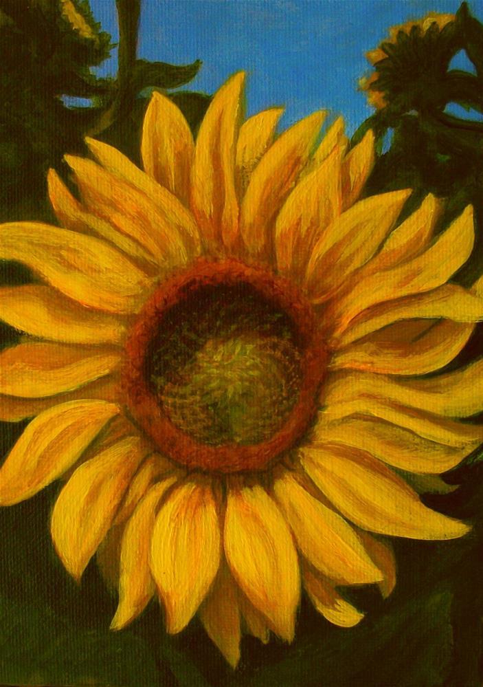"""""""30 in 30 Challenge: Sunflower 1"""" original fine art by Elizabeth Elgin"""