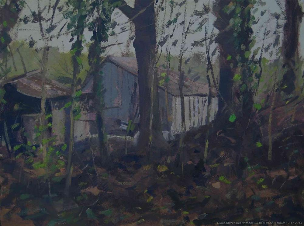 """Old sheds Doetinchem, The Netherlands."" original fine art by René PleinAir"