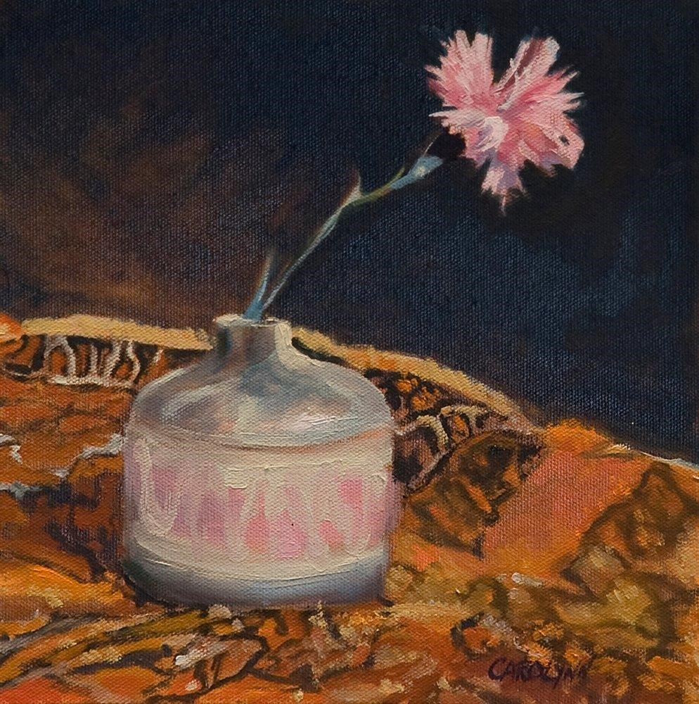 """A Single Carnation"" original fine art by Carolynn Doan"