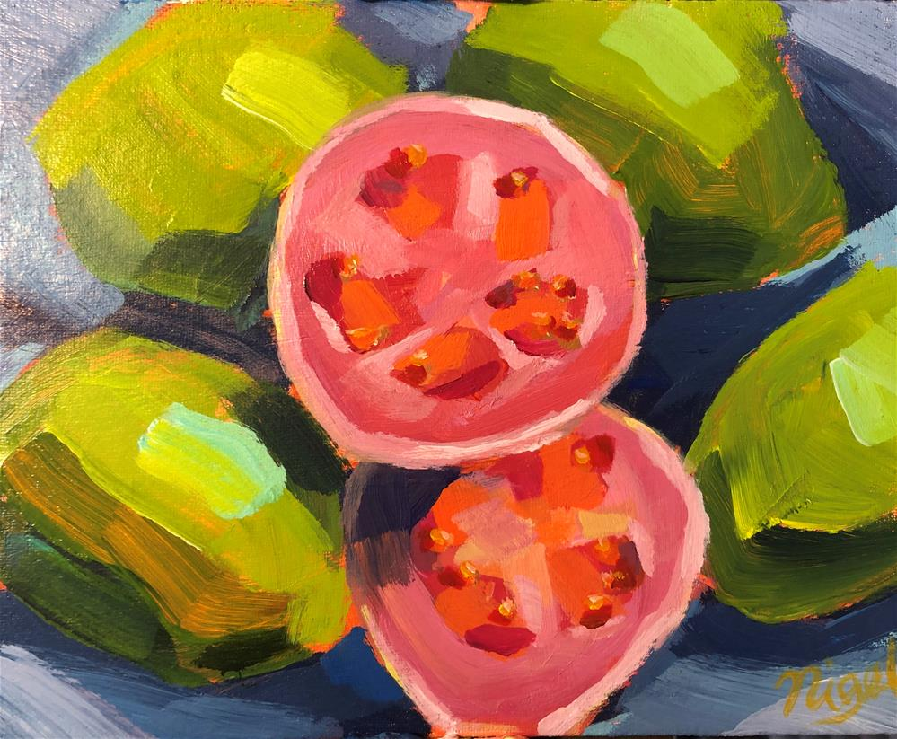 """Ripe guavas"" original fine art by Nigel Williams"
