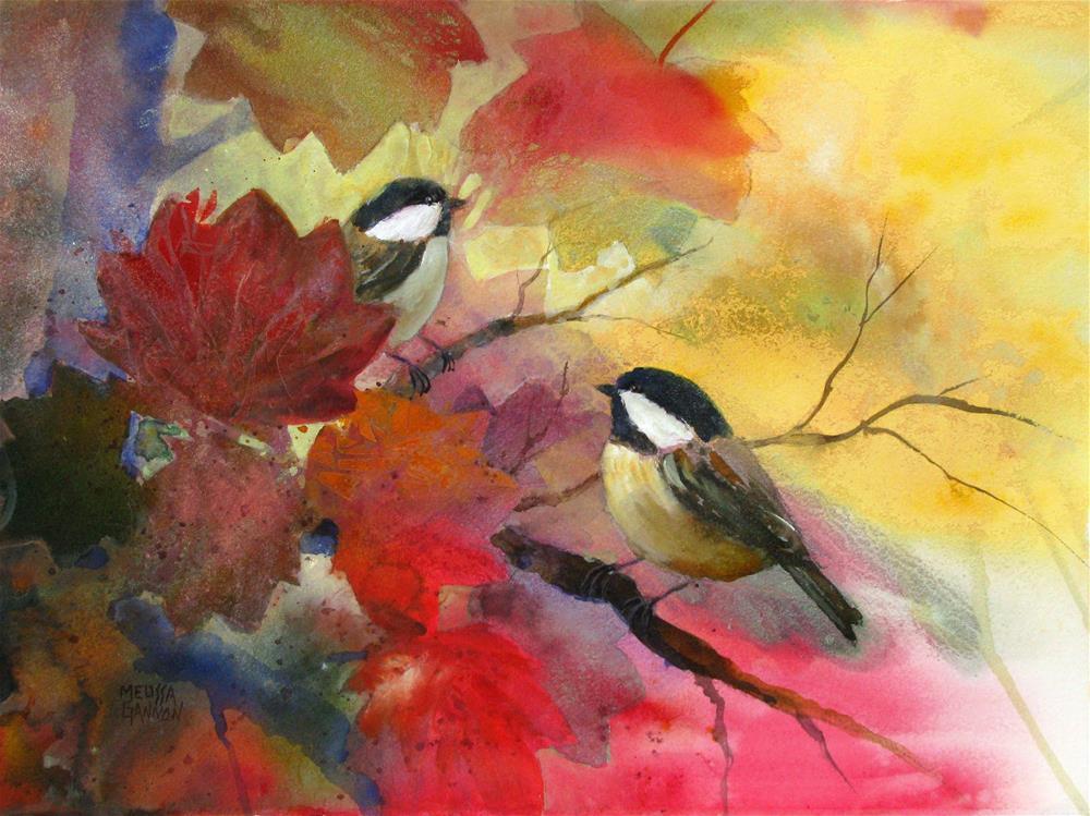 """Getting Together"" original fine art by Melissa Gannon"