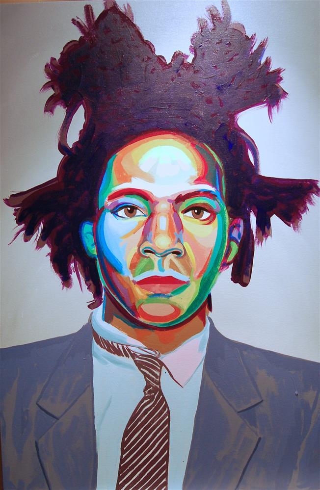 """""""Jean Michel Basquiat (color contact 10)"""" original fine art by michael vigneux"""