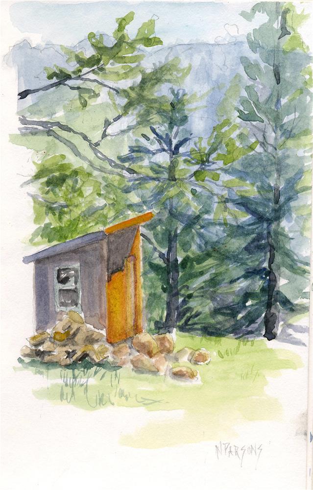 """Tool Shed"" original fine art by Nancy Parsons"
