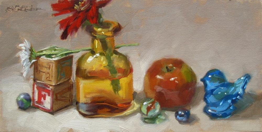 """Still Life With Amber Bottle"" original fine art by Karen Werner"