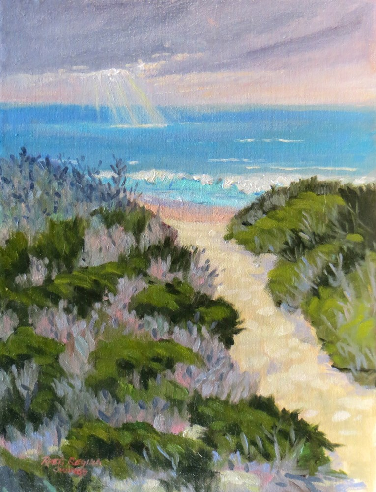 """Sunlight on the Sea"" original fine art by Rhett Regina Owings"