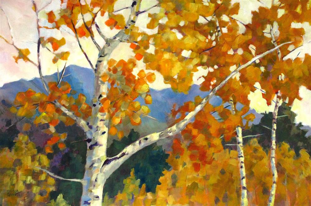 """""""A Song of the Fall"""" original fine art by Melissa Gannon"""