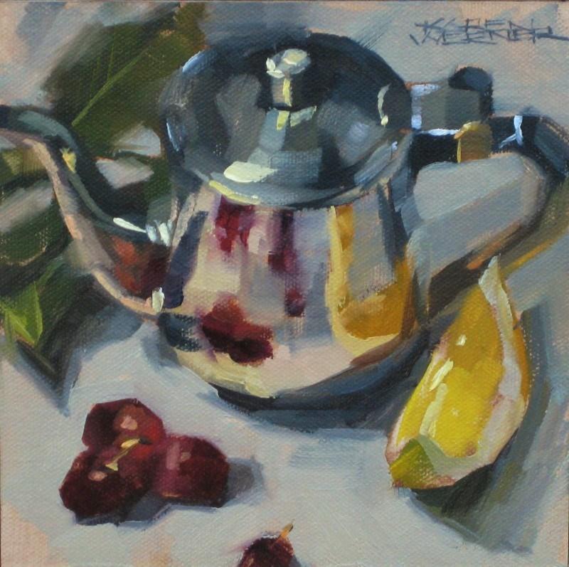 """""""Famy's Creamer"""" original fine art by Karen Werner"""