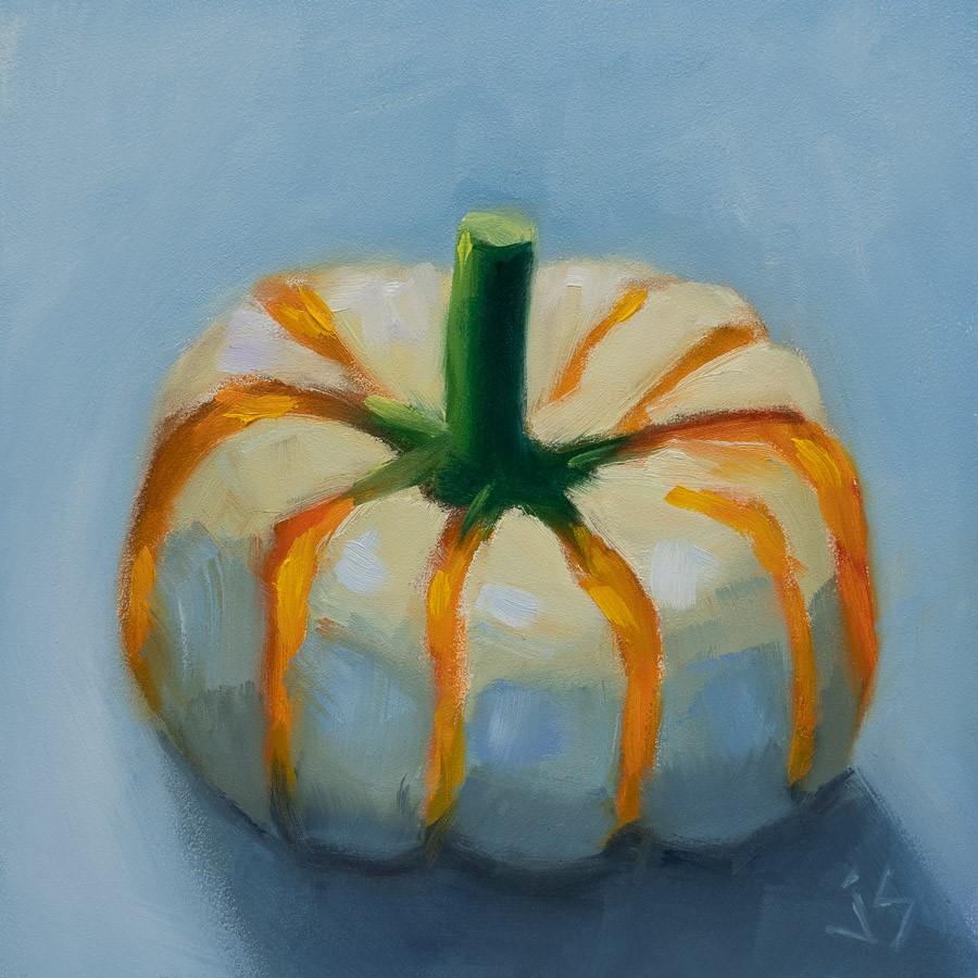 """""""Pretty Pumpkin"""" original fine art by Johnna Schelling"""