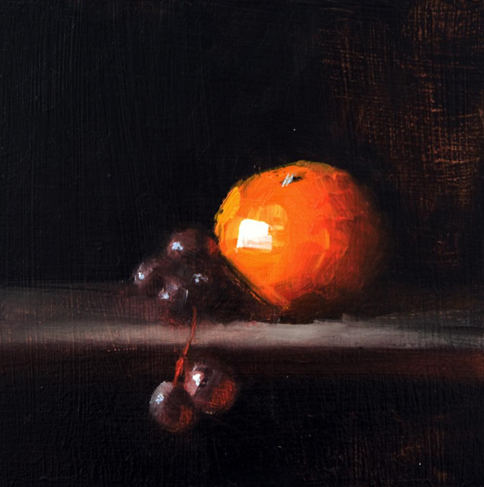 """Orange and Grapes"" original fine art by Neil Carroll"