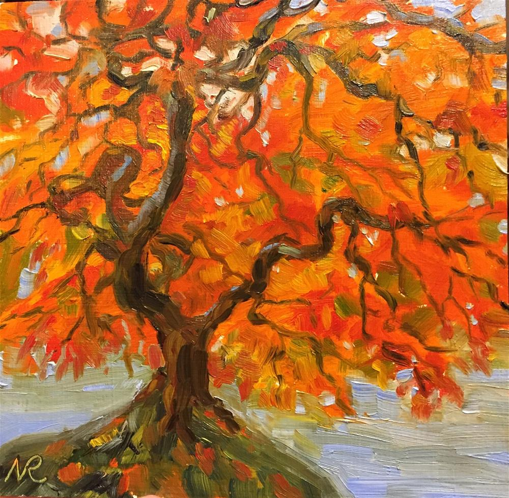 """Japanese Maple"" original fine art by Natasha Ramras"