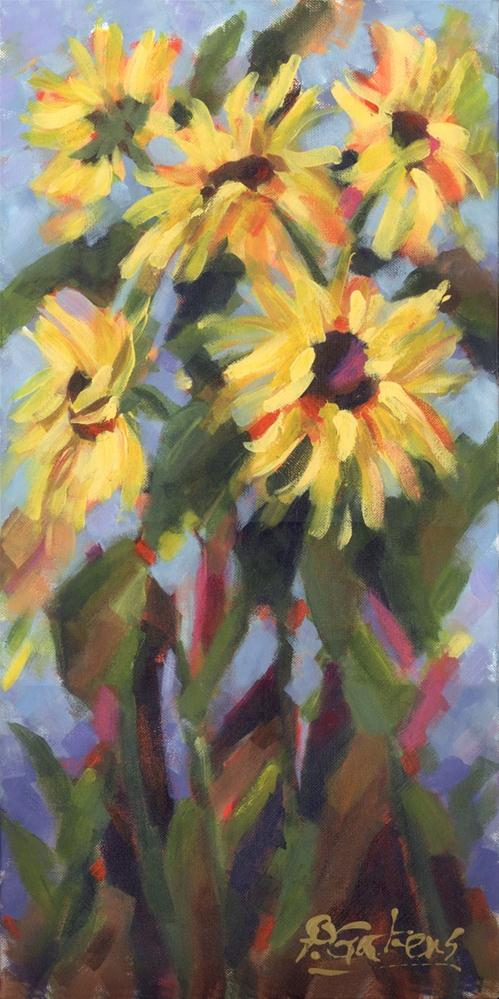 """Cottage Sunflowers"" original fine art by Pamela Gatens"