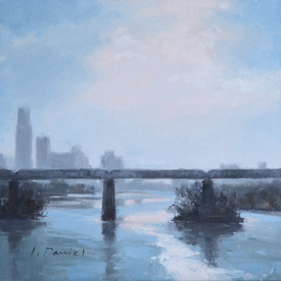 """Winter Haze - No Place Like Home"" original fine art by Laurel Daniel"