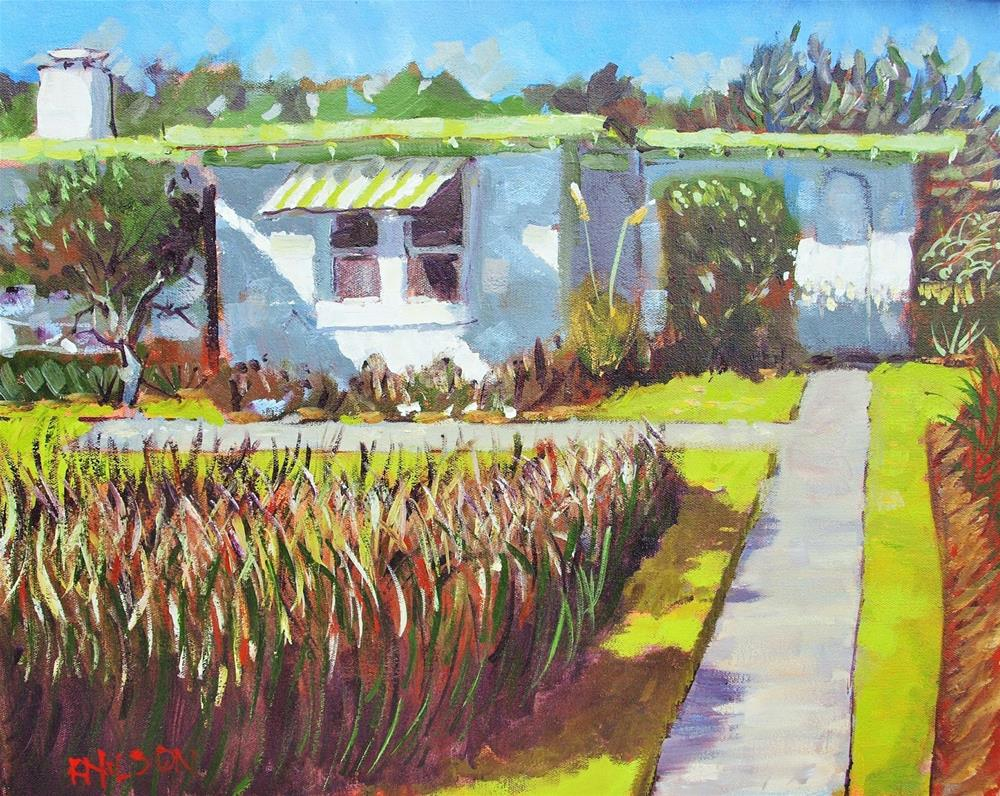 """The Mulch Job"" original fine art by Rick Nilson"