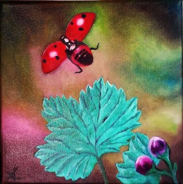 """Flying Lady"" original fine art by Konstantia Karletsa"