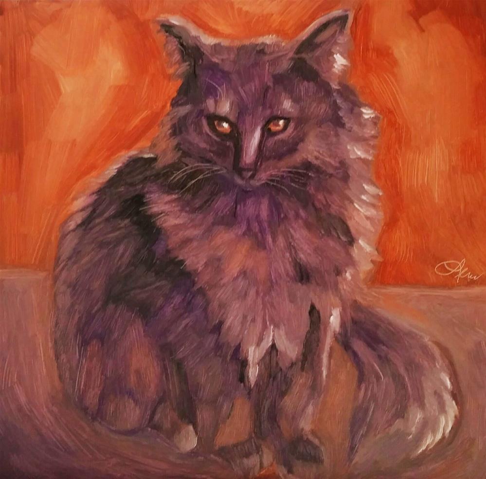 """I'm Watching You"" original fine art by Leni Tarleton"