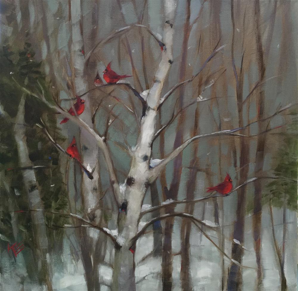 """Winter Rest"" original fine art by Krista Eaton"