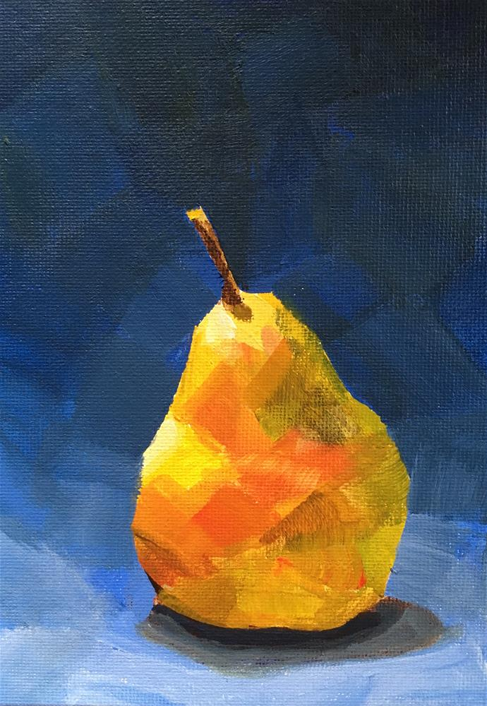 """""""The Pear Stands Alone"""" original fine art by Chi Chi Taylor"""